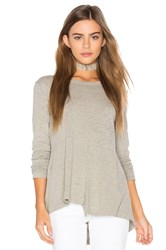 Wilt Slub Layered Open Back Tee Gray
