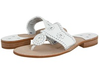 Jack Rogers Palm Beach Navajo Flat White Women's Sandals