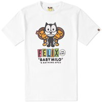 A Bathing Ape X Felix The Cat 4 Tee White