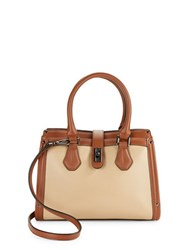 Calvin Klein Pebbled Leather Satchel Nude