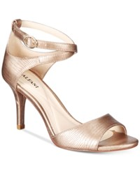 Alfani Women's Ginnii Ankle Strap Dress Sandals Only At Macy's Women's Shoes Champage
