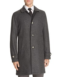 Hardy Amies Double Face Car Coat Charcoal