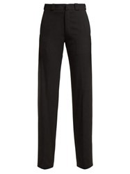 Vetements Cut Out Straight Leg Trousers Black