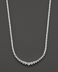 Bloomingdale's Diamond Tennis Necklace In 14K White Gold 10.0 Ct. No Color