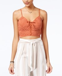 American Rag Crochet Bralette Crop Top Only At Macy's Autum Leaf