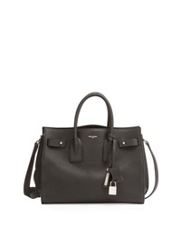 Saint Laurent Small Carryall Leather Bag Black