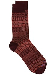 Etro Striped Socks Red
