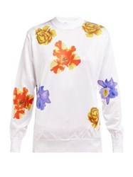 Toga Floral Print High Neck Blouse White Print