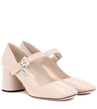 Prada Patent Leather Pumps Beige
