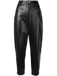 Essentiel Antwerp Cropped High Waisted Trousers Black