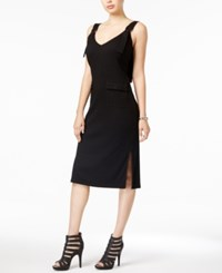 Guess Bedford Ribbed Bodycon Dress Jet Black