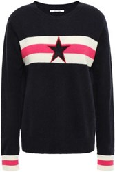 Chinti And Parker Woman Intarsia Wool Cashmere Blend Sweater Navy