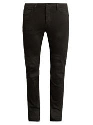 Neuw Denim Iggy Skinny Distressed Jeans Black