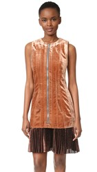 3.1 Phillip Lim Sculpted Velvet Dress With Pleated Hem Coco