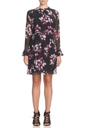 Cynthia Steffe Cara Pleated Floral Dress Gray