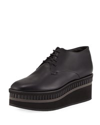 Robert Clergerie Limmy Platform Leather Oxford Black