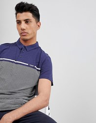 Tom Tailor Polo With Stripe Print Navy 6811