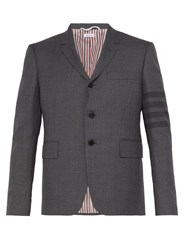 Thom Browne 4 Bar School Uniform Wool Blend Jacket Grey