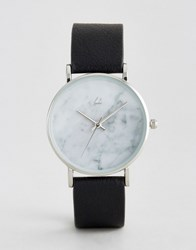 Asos Marble Face Watch Black