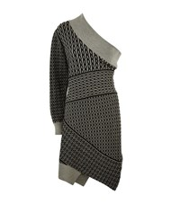 Burberry Runway Cable Knit One Shoulder Dress Female Grey