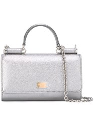 Dolce And Gabbana Mini Von Wallet Crossbody Bag Metallic