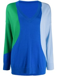 Chinti And Parker Colour Block Jumper Blue