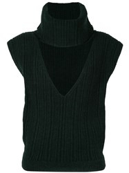 Jacquemus Aube Knitted Top Green