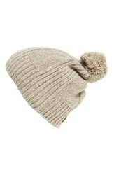Men's Ugg Australia 'Mclain' Ribbed Pompom Beanie Orange Oatmeal Heather