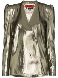 Ronald Van Der Kemp V Neck Blouse Metallic