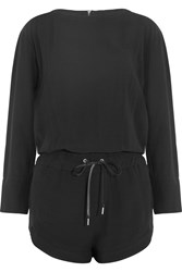 Helmut Lang Crepe Playsuit Black