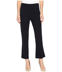 Ellen Tracy Flare Crop Trousers E Navy Women's Casual Pants Black