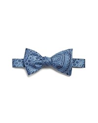 Bloomingdale's The Men's Store At Paisley Self Tie Bow Tie Blue