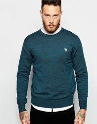Paul Smith Jeans Jumper With Zebra Logo In Crew Neck Green