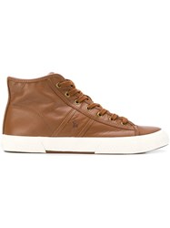 Ralph Lauren High Top Sneakers Brown