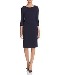 Basler Fitted Sheath Dress Navy
