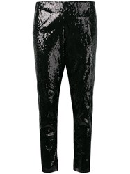 Laneus Sequin Cropped Trousers Black