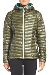 Mountain Hardwear Women's 'Ghost Whisperer Tm ' Hooded Packable Down Jacket Stone Green