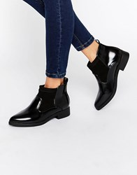 Park Lane Ankle Boots Black Hi Shine