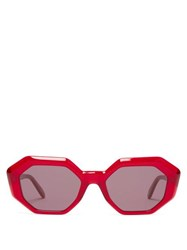 Garrett Leight Jacqueline Acetate Sunglasses Red