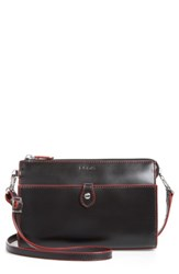 Lodis Audrey Vicky Convertible Leather Crossbody Bag Black
