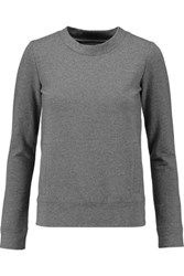 Norma Kamali Stretch Cotton Jersey Sweatshirt Gray