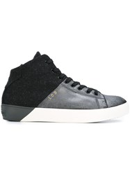 Leather Crown Colour Block Sneakers Metallic