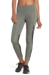 New Balance Q Speed Crop Running Tights Military Foliage Green