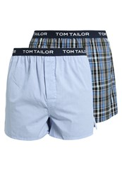 Tom Tailor 2 Pack Boxer Shorts Blue