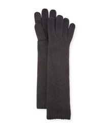 Portolano Long Cashmere Smart Gloves Black