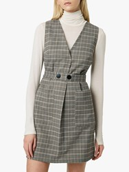 French Connection Amati Check Dress Grey