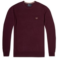 Fred Perry Classic Crew Neck Sweater Burgundy