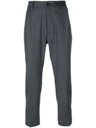 Pence Pleated Trousers Cashmere Virgin Wool Grey