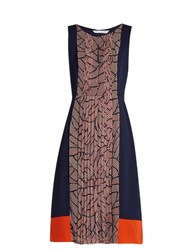 Diane Von Furstenberg Aubriana Dress Navy Multi