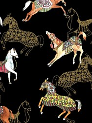 Roi Du Lac Horses India Wallpaper Multicolor